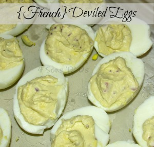 French style deviled eggs 4 sons 39 r 39 us for Table 52 deviled eggs recipe
