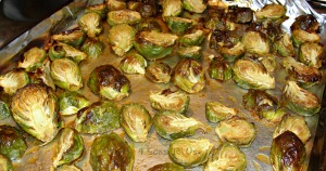 Maple & Sriracha Glazed Roasted Brussels Sprouts
