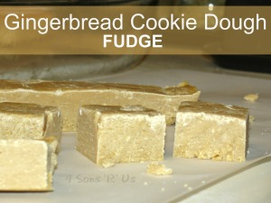 Gingerbread Cookie Dough Fudge 3