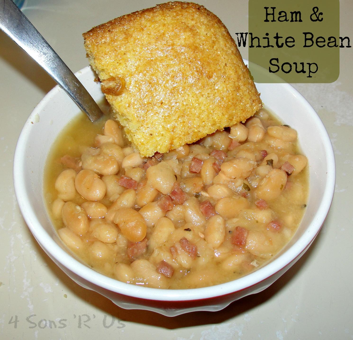 Sous Chef Sunday: Crockpot Ham & White Bean Soup | 4 Sons 'R' Us
