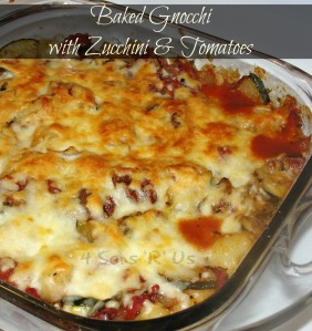 Baked Gnocchi with Zucchini & Tomatoes
