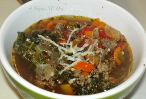 Sweet Italian Sausage Soup with Kale