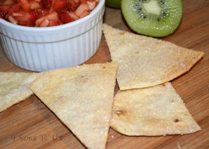 Fruit Salsa & Cinnamon Sugar Tortilla Chips 2