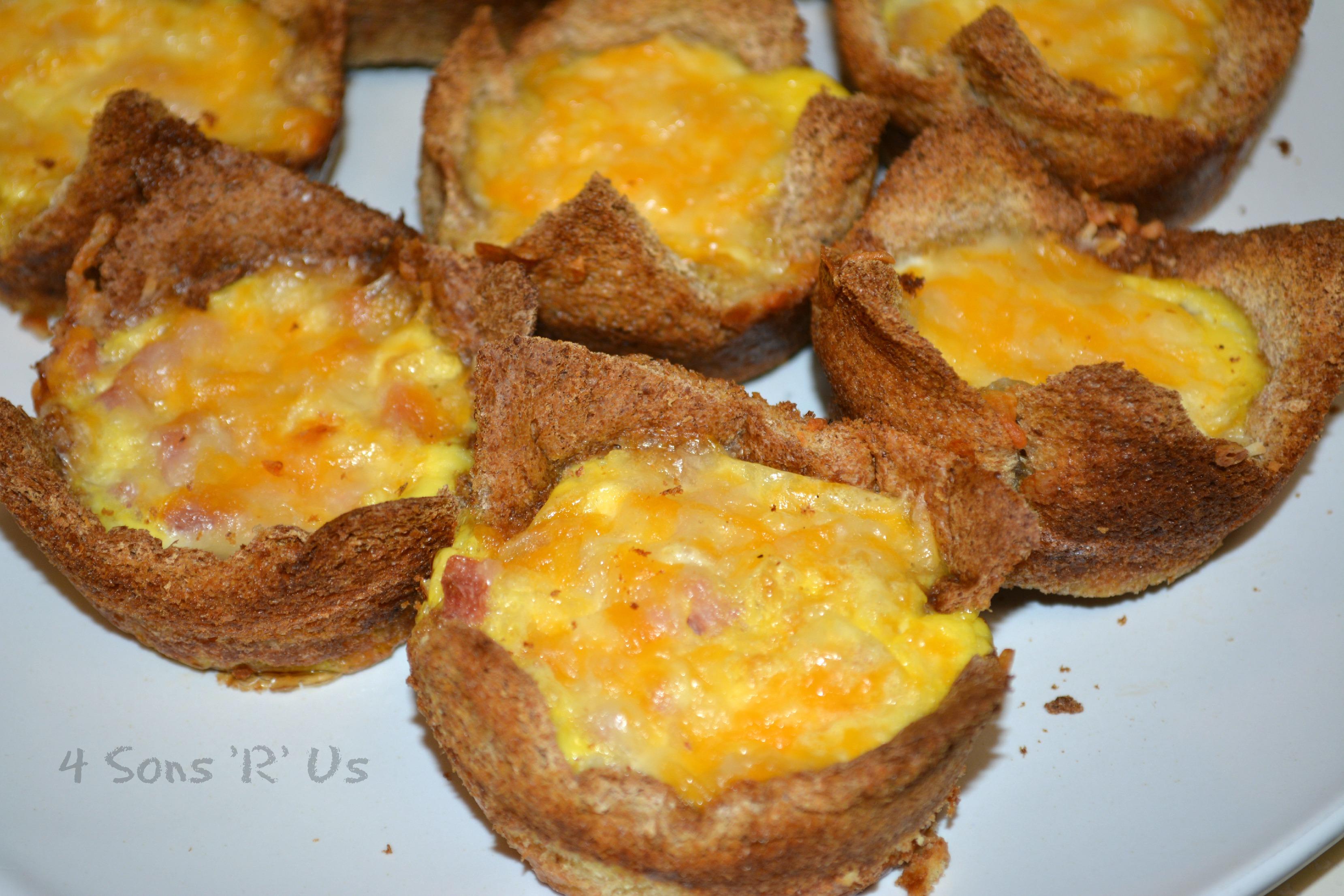 Quick Egg, Mushroom & Ham Cup Recipe — Dishmaps
