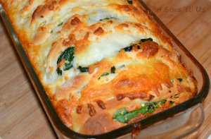 Spinach & Feta Stuffed Cheesy Bread 2