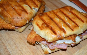 Chicken Cordon Bleu Paninis