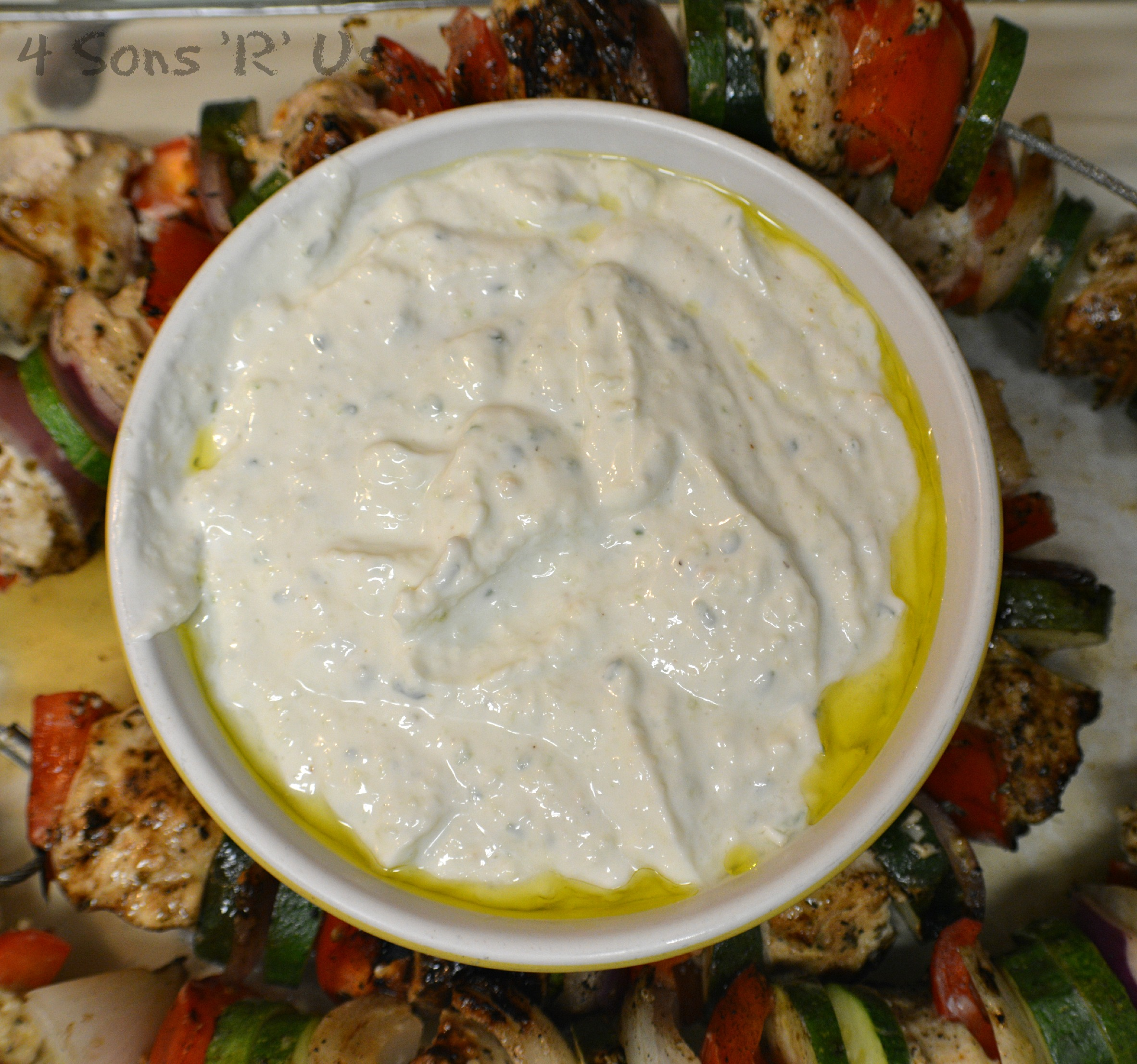 Greek Chicken Kabobs with Tzatziki Sauce | 4 Sons 'R' Us