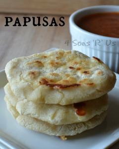 Pupusas with Salsa Roja