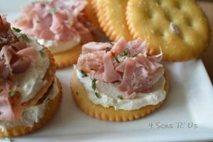Roast Beef & Horse Radish Dijon Cream Cheese Crackers