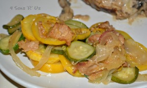 Sauteed Summer Squash with Bacon & Onion 2