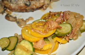Sauteed Summer Squash with Bacon & Onion