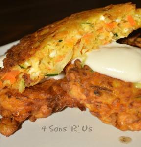 Carrot, Zucchini, Feta Fritters 2