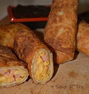 Ham Mac & Cheese Egg Rolls