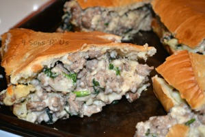 Sausage Alfredo Stuffed French Bread 2