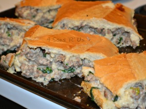 Sausage Alfredo Stuffed French Bread 3
