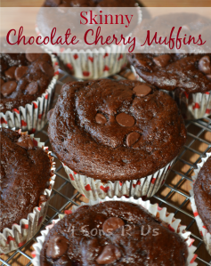 Skinny Chocolate Cherry Muffins