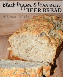 Black Pepper Parmesan Beer Bread