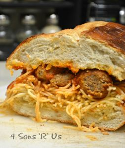 Spaghetti & Meatballs Garlic Bread Subs