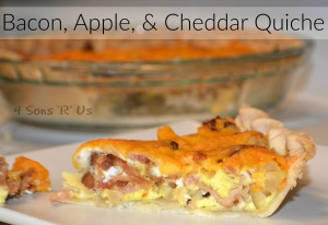 Bacon, Apple, & Cheddar Quiche