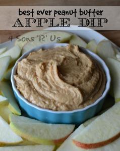 Healthy peanut butter apple dip