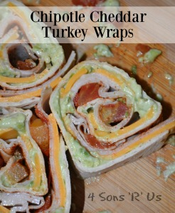 Chipotle Cheddar Turkey Wraps