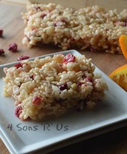 Cranberry Orange Rice Krispy Treats 2