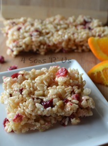 Cranberry Orange Rice Krispy Treats