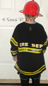 DIY Fire man Costume 5
