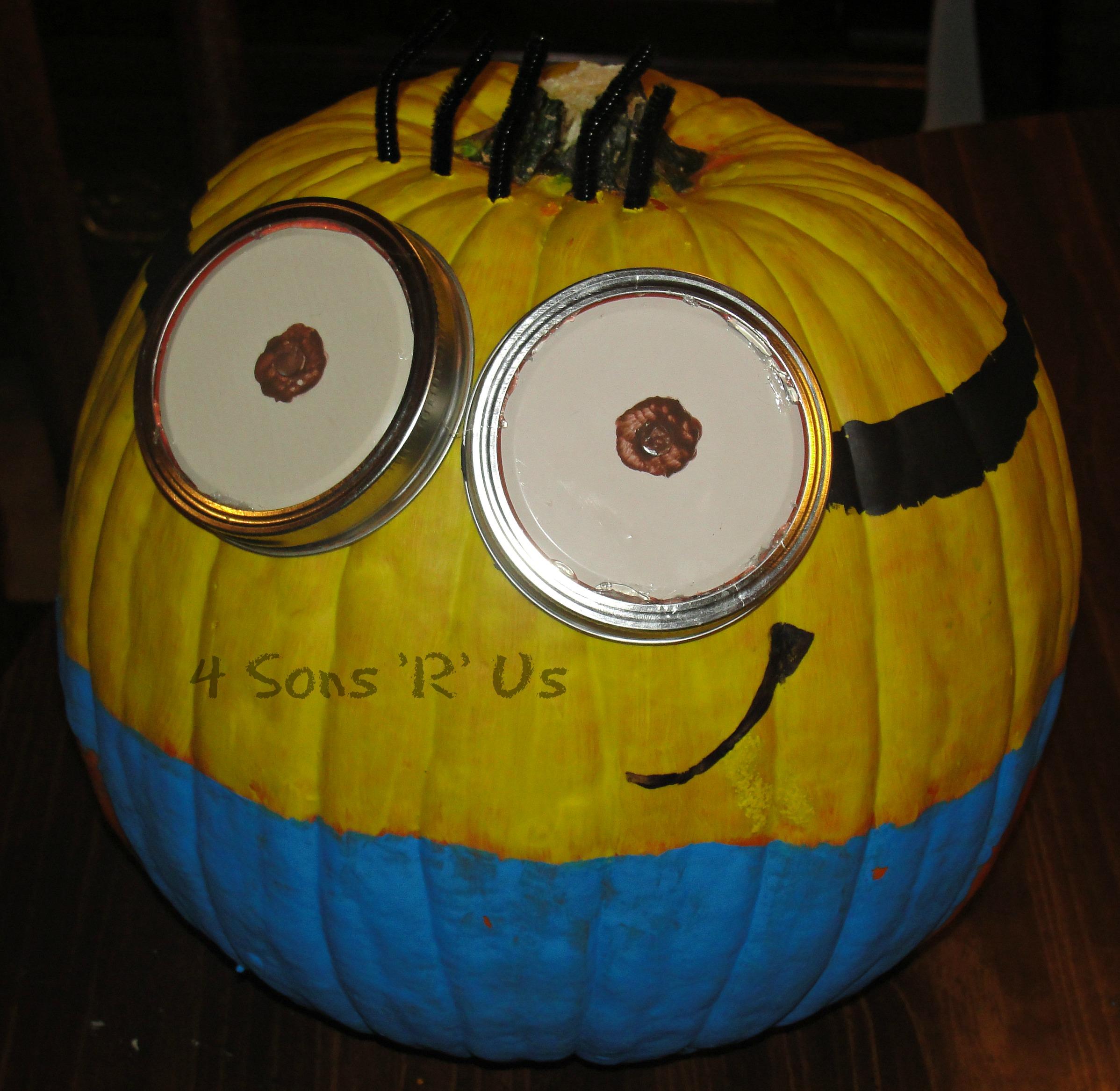Despicable Me Minion Pumpkin Tutorial 4 Sons R Us