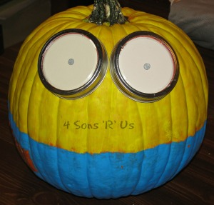 Minion Pumpkin 3