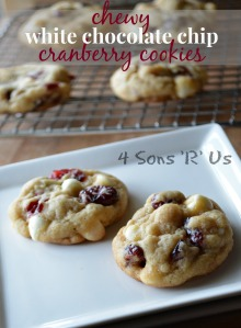 Chewy White Chocolate Chip Cranberry Cookies